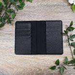 passport holder black