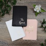 passport holders white pink black
