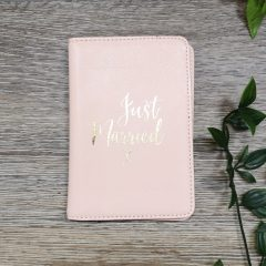 pink passport holder