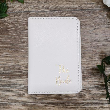 white passport holder