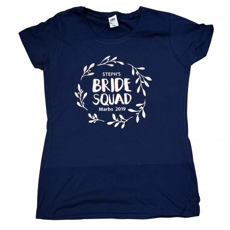 bride squad garland t-shirt
