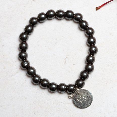 Hematite woo way bracelet