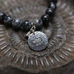 Snowflake Obsidian woo way bracelet forever memories